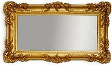 WANDSPIEGEL BAROCKSPIEGEL SPIEGEL IN GOLD 96x57 ANTIK BAROCK ROKOKO SHABBY CHIC RENAISSANCE JUGENDSTIL RETRO DESIGN MIT ORNAMENTVERZIEHRUNGEN LUXURIÖS PRUNKVOLL