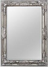Wandspiegel BESSA barock pompös Spiegel 70x50cm antik silber Design Holzrahmen