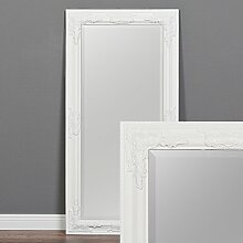 Wandspiegel BESSA weiß-pur barock Design Spiegel pompös Holzrahmen 100x50cm