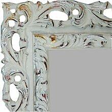 Wandspiegel CMGdecor mit Holzrahmen Modell:403 ( 50 x 120 cm ) Weiß gold