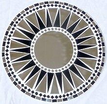 Wandspiegel Deko Spiegel Mosaik Einlegearbeit Handarbeit 40cm rund Holz #32