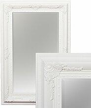 Wandspiegel EVE 120x80cm Spiegel Pur Weiß pompös barock Holzrahmen Facette