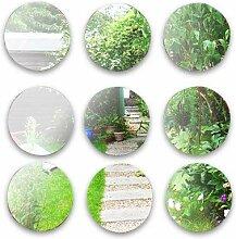 Wandspiegel, für Garten, rund, aus Acryl, 40 cm