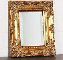 Wandspiegel gold 32 x 27 cm mit verziertem Rahmen