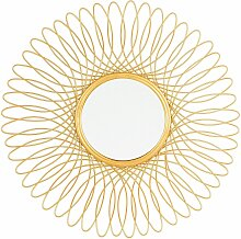 Wandspiegel Gold ø 55 cm Rund Mandala Glamour
