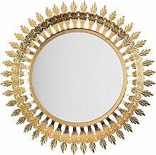 Wandspiegel Gold ø 60 cm Metallrahmen Rund Modern