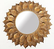 Wandspiegel Gold Sonne Sonnenspiegel Badspiegel Rundspiegel Barockspiegel Rokoko 43 cm