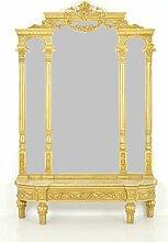 Wandspiegel Gold - Stil Antik | Barock | Rokkoko | Louis XV / XVI | Klassische | Handgefertigt | Massivholz