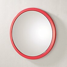 Wandspiegel hochglanz rot; ideal für Flur und Bad