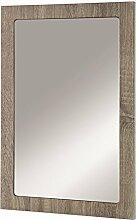Wandspiegel in Eiche trüffel aus MDF; Maße (B/T/H) in cm: 40 x 2 x 60