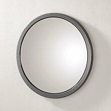 Wandspiegel in grau aus MDF und Spiegelglas; Maße (B/T/H) in cm: 38 x 2 x 38