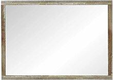 Wandspiegel in Grau Treibholz Dekor 70 cm hoch