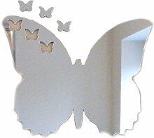 Wandspiegel in Schmetterlingsform, 3 kleine Schmetterlinge, 20 x 16 cm