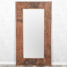 Wandspiegel KING ca. 180x100cm recyceltes Teak Holz Spiegel Holzspiegel