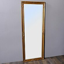 Wandspiegel LEANDOS barock gold antik Design Spiegel pompös Holzrahmen 160x60cm