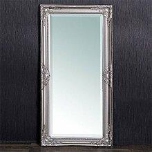 Wandspiegel LEANDOS barock silber antik Design Spiegel pompös Facette 100x50cm