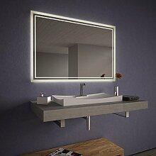 Wandspiegel LED für das Bad Linus - B 1400mm x H 800mm - warmweiss