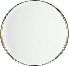 Wandspiegel Messing ø 40 cm Metall Rund Retro