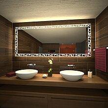 Wandspiegel mit Beleuchtung Loops - B 600mm x H 800mm - neutralweiss