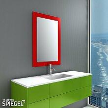 Wandspiegel mit Glasrahmen Badezimmerspiegel Rot