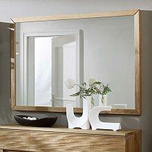Wandspiegel mit Holzrahmen Wildeiche massiv