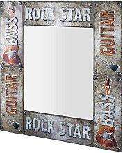 Wandspiegel mit Metallrahmen Rock Style