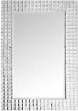 Wandspiegel mit Metallrahmen Silberfarben