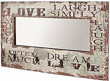 Wandspiegel mit Wandgarderobe in Vintageoptik und