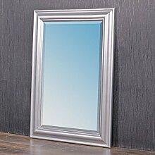 Wandspiegel ONDA 90x70cm silber Design Spiegel pompös Holzrahmen schlich