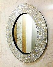 Wandspiegel Schlafzimmer Perlmutt Inlay Oval Frame