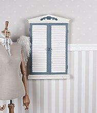 Wandspiegel Shabby Chic Lamellentür Spiegel Vintage Fensterladen Antik Palazzo Exklusiv