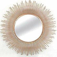 Wandspiegel Soleil rund aus Metall Kupfer