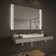 Wandspiegel Soraya mit LED-Beleuchtung - B 400mm x H 600mm - warmweiss