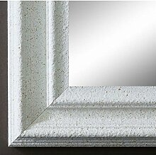 Wandspiegel Spiegel Badspiegel - Trento 5,4 - Weiß - 80 x 140 - Außenmaß inkl. Massivholz-Rahmen - viele Größen verfügbar - Modern, Barock, Antik, Vintage