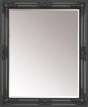 Wandspiegel Spiegel Barock antik Look Weiß Silber Gold 80 x 60 cm 15290, Farbe:Schwarz