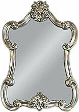 WANDSPIEGEL Spiegel Barockspiegel Silber Oval