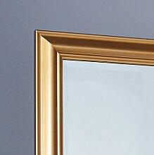 Wandspiegel Spiegel Flurspiegel 150 x 60 cm gold schlichter Landhaus-Stil mit Facettenschliff