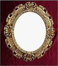 WANDSPIEGEL SPIEGEL Oval in GOLD REPRO 45x38 ANTIK BAROCK ROKOKO Vintage REPLIKATE NOSTALGISCH RENAISSANCE BAROCKSTIL