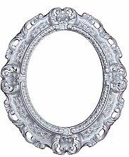 WANDSPIEGEL SPIEGEL Oval in Silber REPRO 45x38 ANTIK BAROCK ROKOKO Vintage REPLIKATE NOSTALGISCH RENAISSANCE BAROCKSTIL