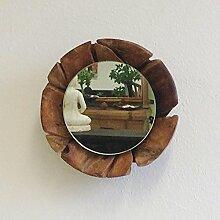 Wandspiegel Spiegel RODA klein 30cm Teak Holz Wand Spiegel Teakholz Unika