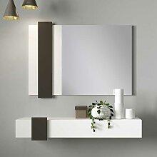 Wandspiegel und Konsole in Weiß und Schwarz