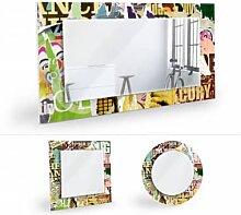 Wandspiegel - Wandspiegel Abgerissene Poster 2