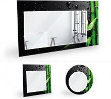 Wandspiegel - Wandspiegel Bamboo over Black