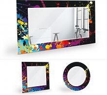 Wandspiegel - Wandspiegel Farbenexplosion