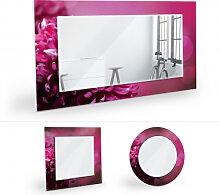 Wandspiegel - Wandspiegel Pink Dahlia