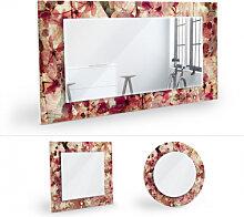 Wandspiegel - Wandspiegel Vintage Blütenmuster