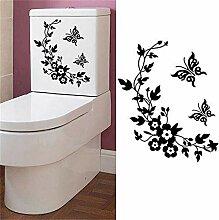 Wandsticker 3D Schmetterling Blumen Wandaufkleber