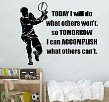 Wandsticker 57X45cm Tennis Für Kinderzimmer