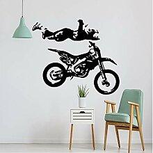 Wandsticker 57X66cm kreative Motorrad Aufkleber