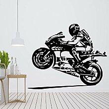 Wandsticker 57X69cm kreative Motorrad Liebhaber